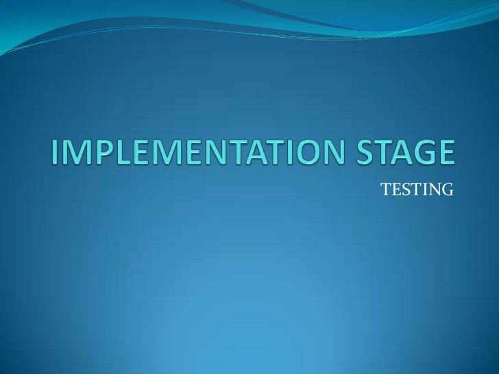 AIS Implementation