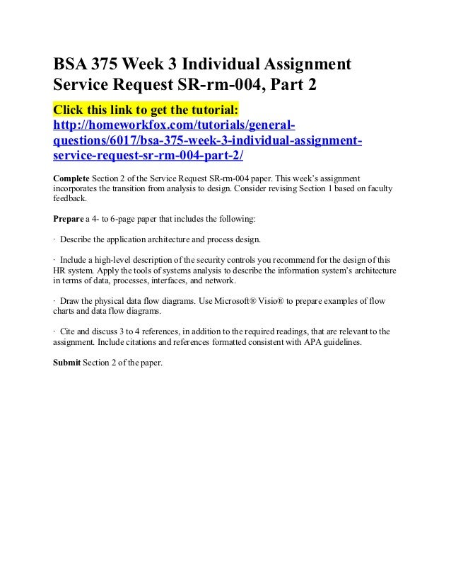 service request sr rm 004 Bsa 375 week 3 individual assignment service request sr-rm abel foster from kearny was looking for bsa 375 week 3 individual assignment service request sr-rm-004, part.