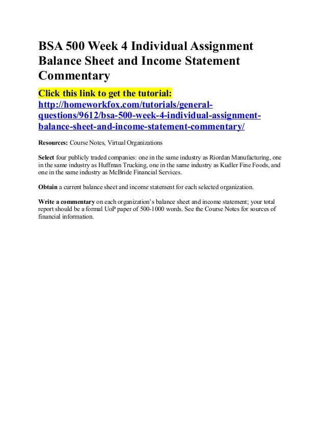 balance sheet and income statement commentary essay Question questions 1 the most recent financial statements for live co are shown here: income statement balance sheet sales $13,250 current assets $10,400 debt $51,000 costs 9,480 fixed.