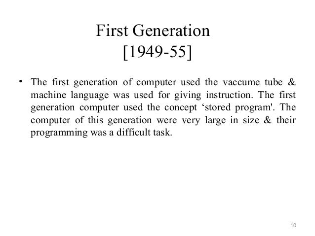 First Generation Computer Diagram The First Generation Computer