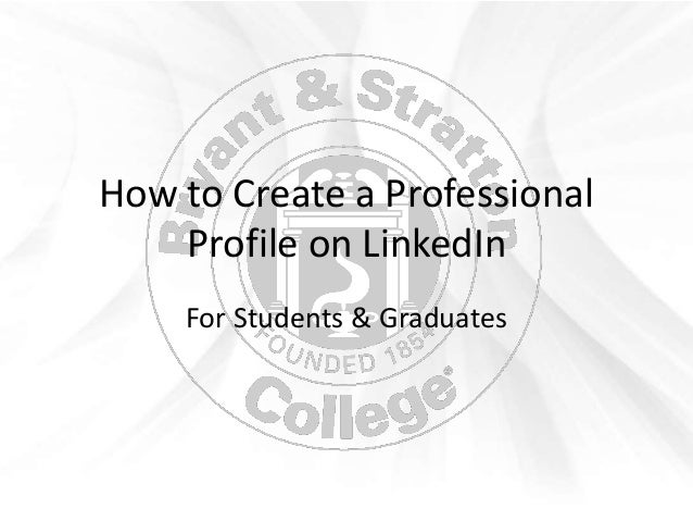 how to create an online professional profile