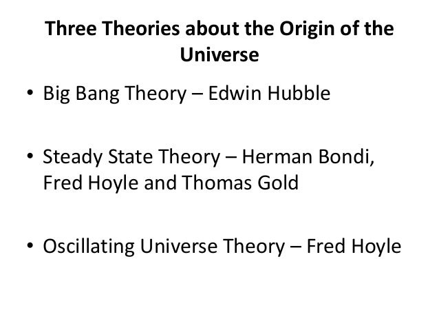 an introduction to the big bang and the steady state models The big bang and the this model has supplanted other models such as the steady state this section has provided only a brief introduction to the big bang.