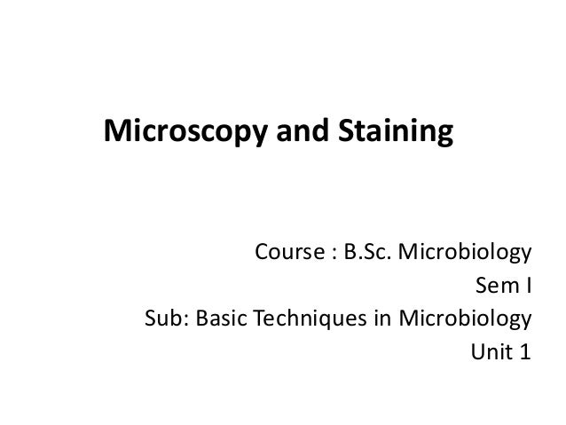 basic microbiological techniques Introduction to microbiology new delhi subsequent training modules on microbiological lab techniques 1 basic water quality.