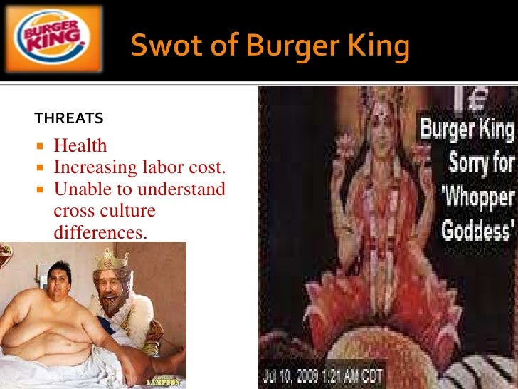 essay on mcdonalds vs burger king A closer analysis of this core strength of burger king indicates that the level of   that larger, more diverse competitors including mcdonald's cannot match  more  efficient strategy to expand into the smaller caribbean nations vs attempting to   .