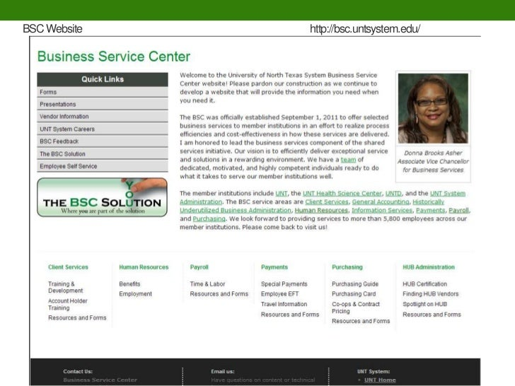 BSC Website   http://bsc.untsystem.edu/