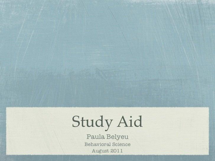 Study Aid (Behavioral Science)