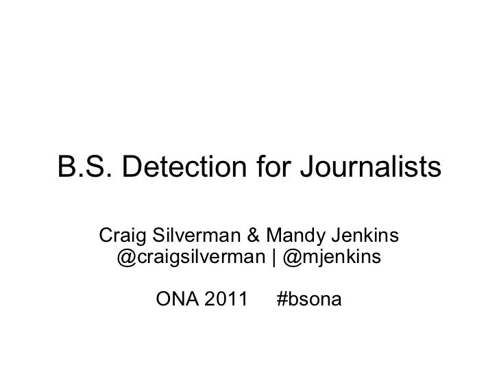 B.S. Detection for Journalists