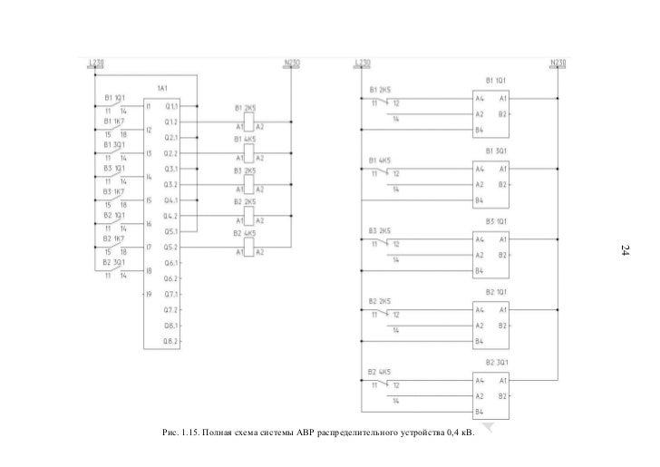 Полная схема системы АВР