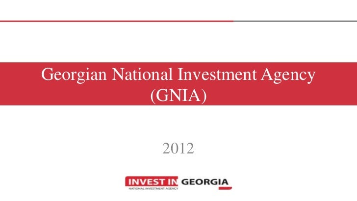 Georgian National Investment Agency              (GNIA)               2012