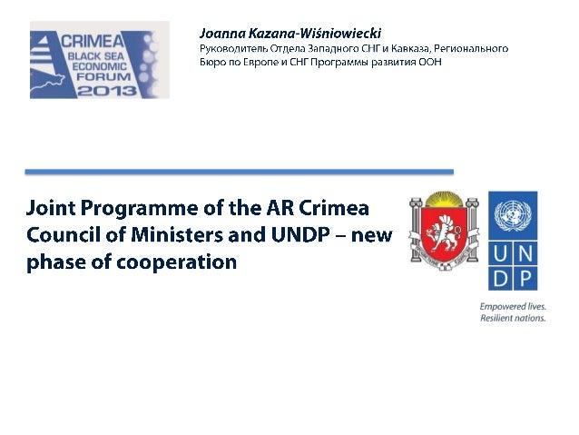BSEF 2013  invest/crimea  Kazana-Wisniowiecki