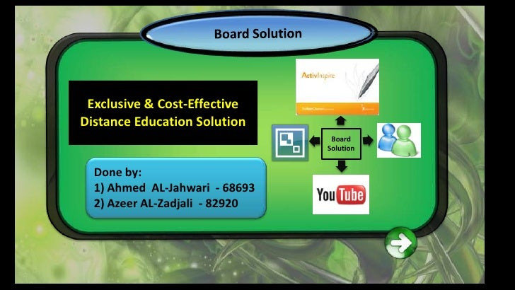 Exclusive & Cost-Effective Distance Education Solution                                  Board                             ...