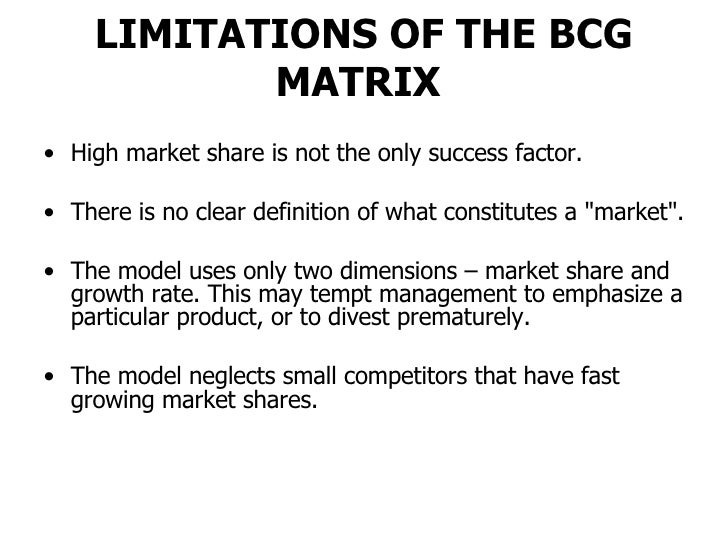 critically evaluate the bcg matrix Bcg matrix evaluation critically evaluate the bcg matrix how would the mckinsey/general electric matrix be a better alternative to the bcg matrix.