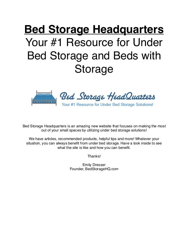 Under Bed Storage for your small space