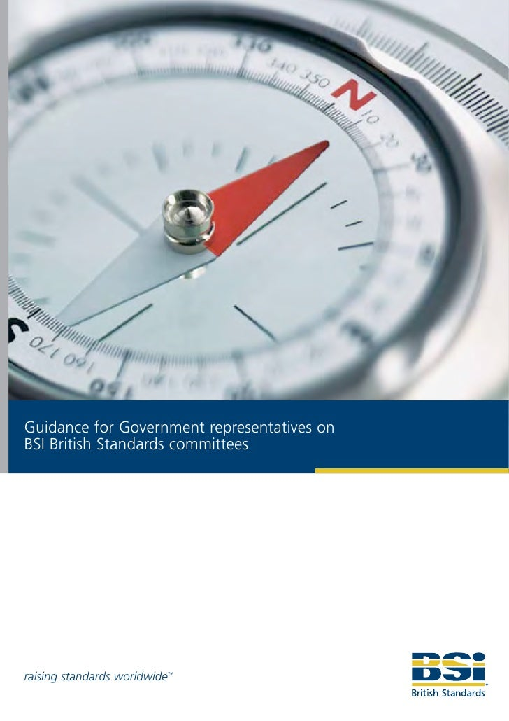 Guidance for Government representatives on BSI British Standards committees     raising standards worldwide™