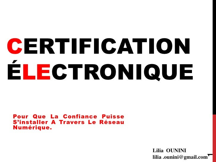 BSides Algiers - Certification Electronique - Lilia Ounini