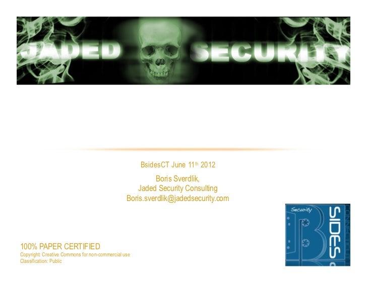 """Hack The Interview"" BSidesCT 2011"