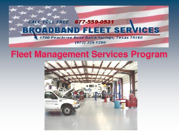 Fleet Management Services Program