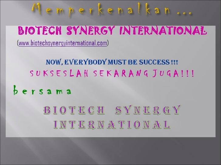 Bio Tech Synergy International (BSI) Marketing Plan