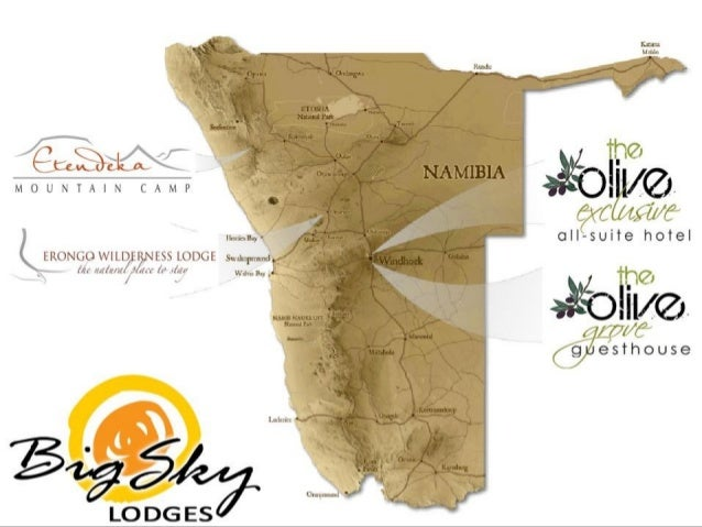Big Sky Lodges Overview - The Olive Grove, The Olive Exclusive, Etendeka Mountain Camp and Erongo Wilderness Lodge