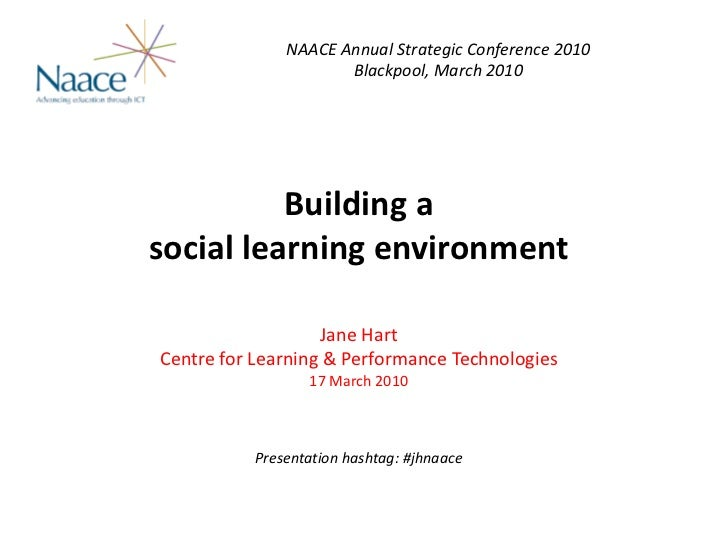 NAACE Annual Strategic Conference 2010                      Blackpool, March 2010               Building a  social learnin...