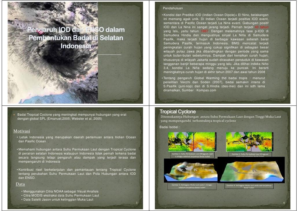 Pendahuluan                                                                                 • Kondisi dan Prediksi IOD (In...