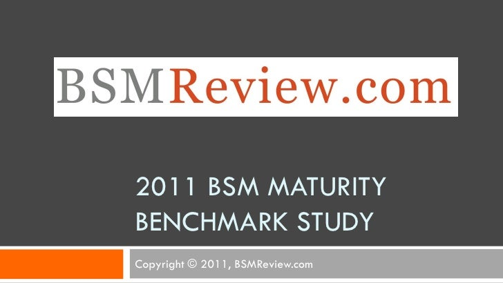 2011 BSM MATURITYBENCHMARK STUDYCopyright © 2011, BSMReview.com