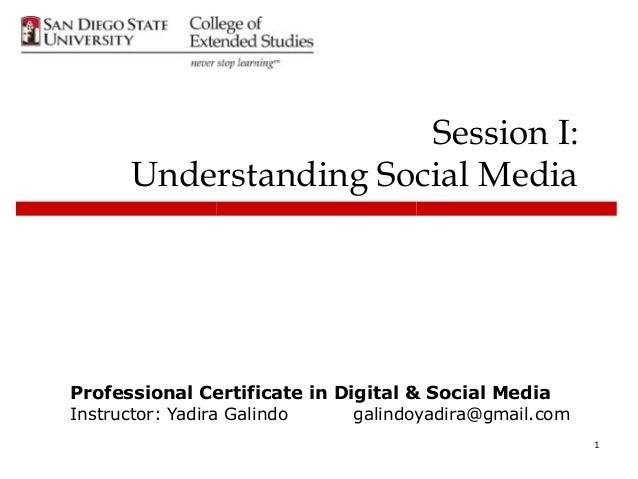 Understanding Social Media Fall 2013 class