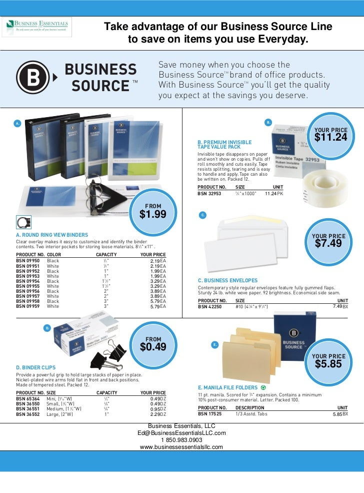 Take advantage of our Business Source Line                                                  to save on items you use Every...