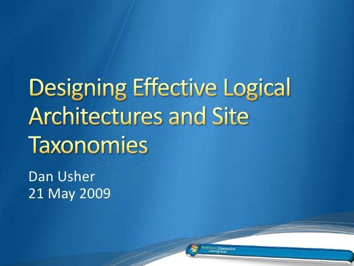 Dan Usher 21 May 2009