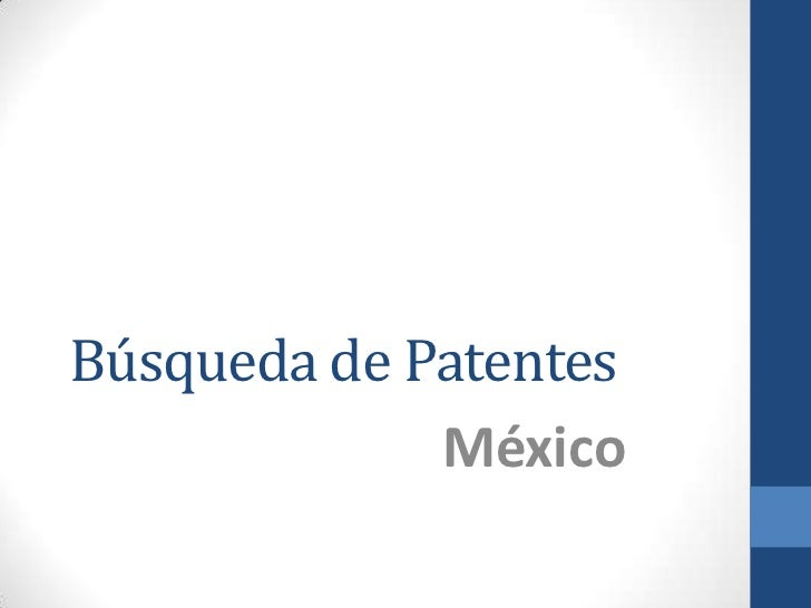 Búsqueda de Patentes             México