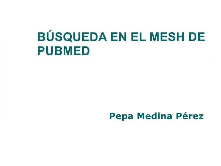 Búsqueda en el MeSH de PubMed