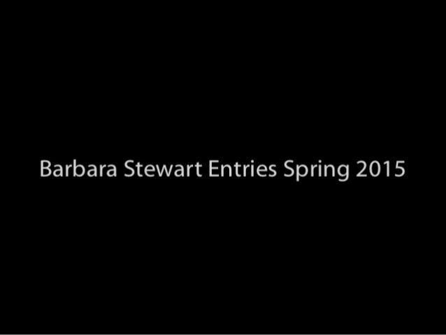 Barbara Stewart Scholarship Entries Spring 2015