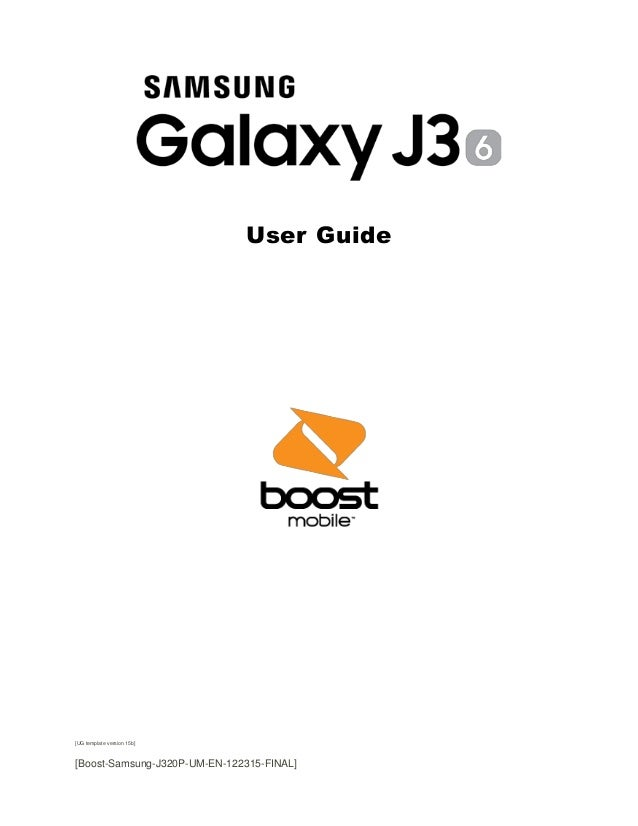Samsung Galaxy J3 Manual / User Guide