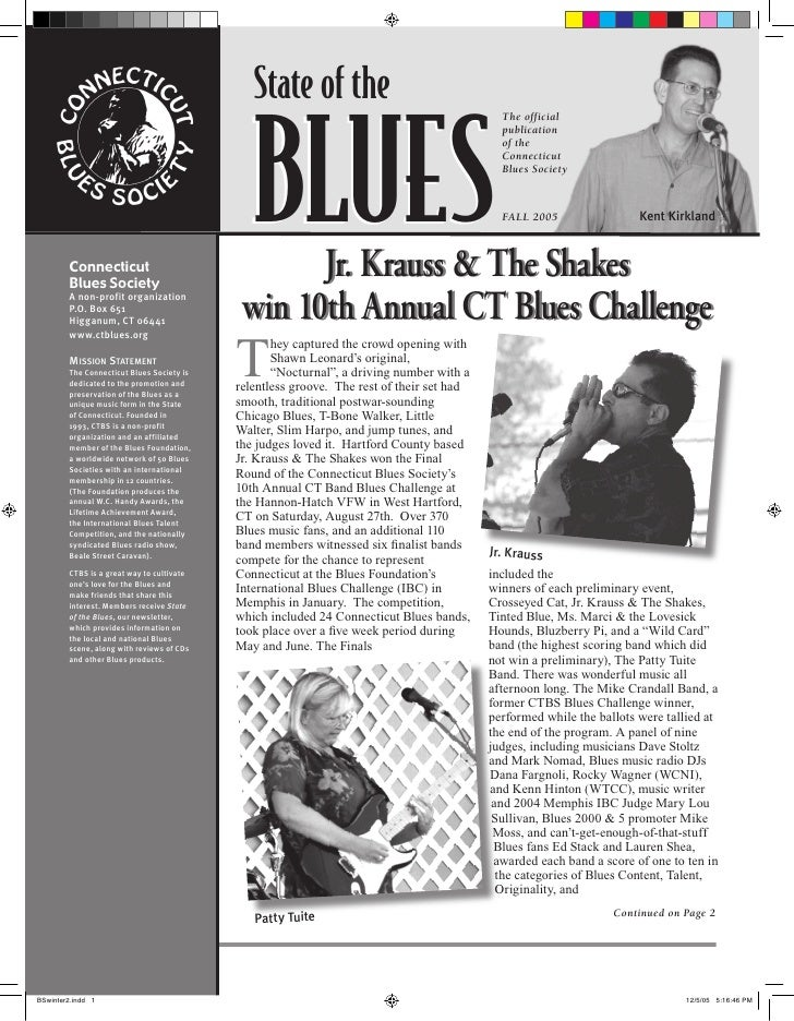Connecticut Blues Society Quarterly Newsletter