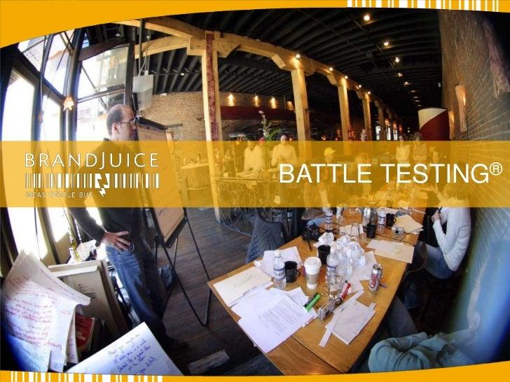 BATTLE TESTING®<br />
