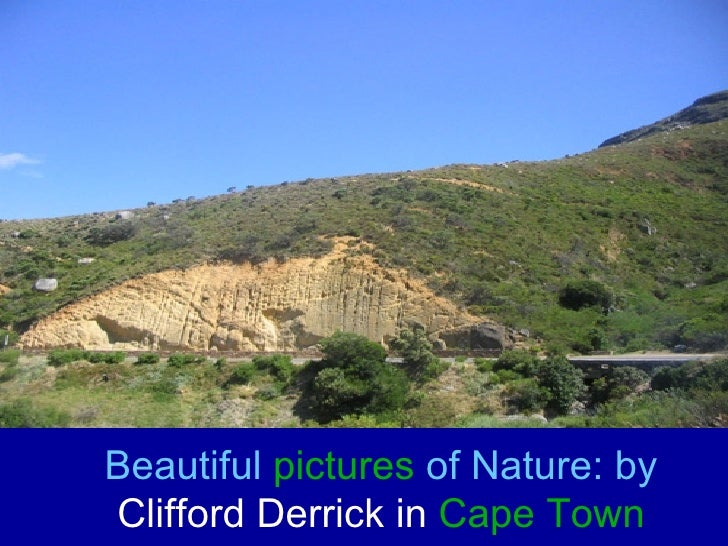 Beautiful  pictures  of Nature: by  Clifford Derrick in  Cape Town