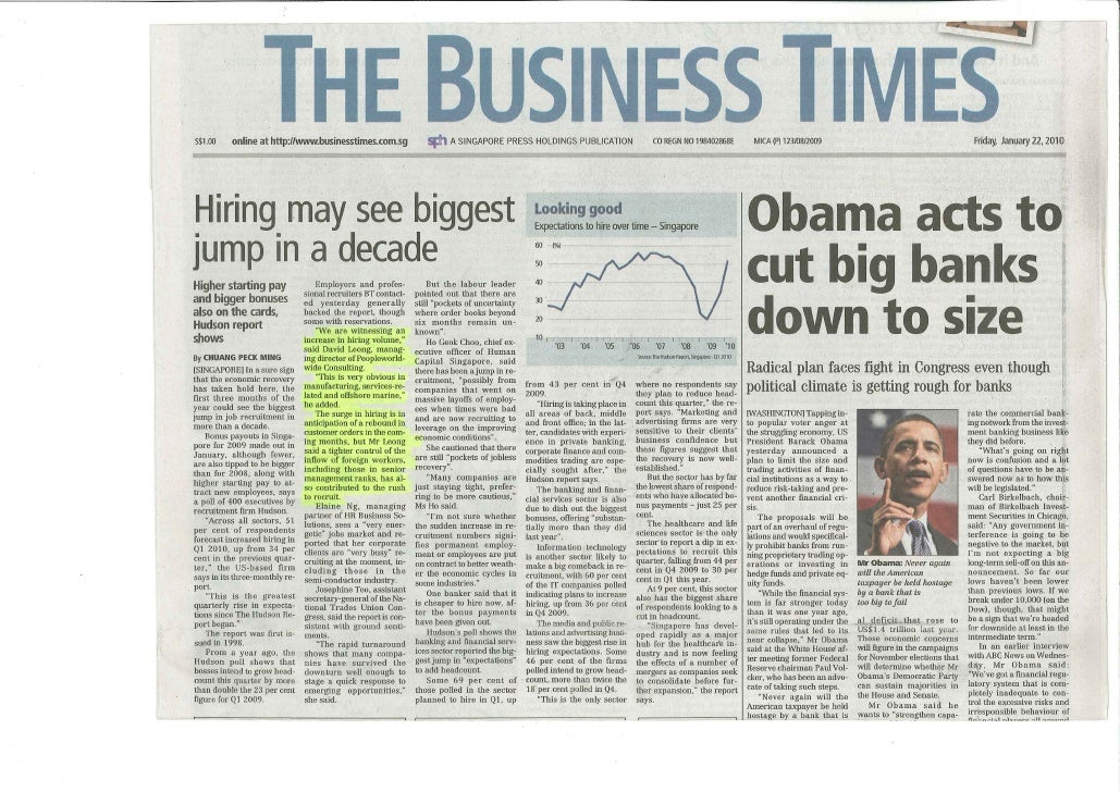 Business Times_Hring may see biggest jump in a decade_25 Jan 2010