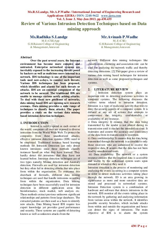 Ms.R.S.Landge, Mr.A.P.Wadhe / International Journal of Engineering Research andApplications (IJERA) ISSN: 2248-9622 www.ij...