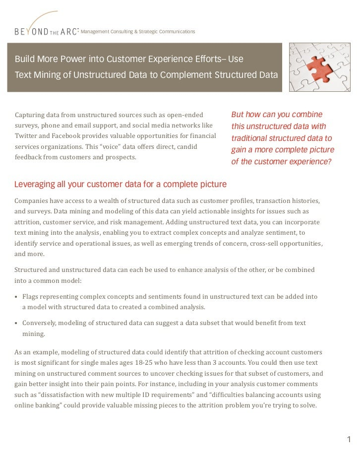 Using Text Mining to Combine Unstructured Data with Structured Data