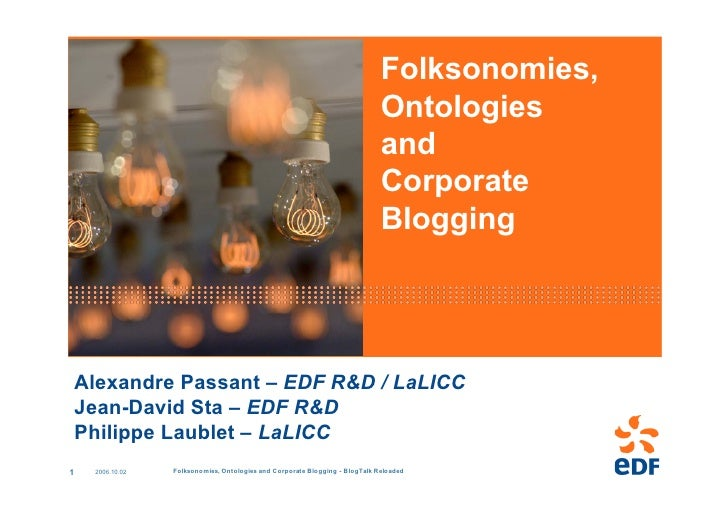 Folksonomies, Ontologies and Corporate Blogging