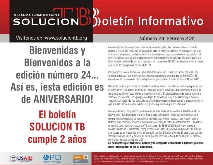 Boletín Informativo                     No. 24 Febrero 2011 Página                                             oletín Info...