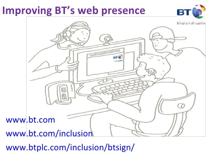 Improving BT's web presence