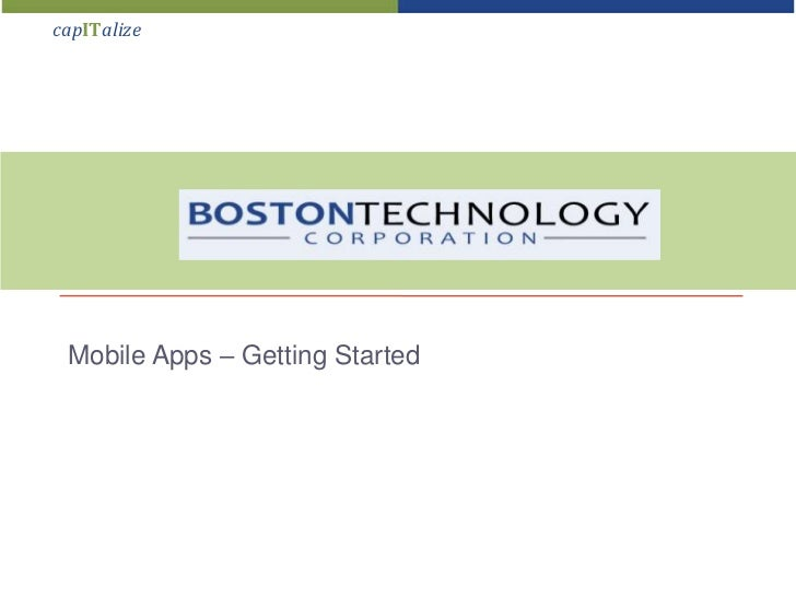 BTC Mobile Apps - Getting Started