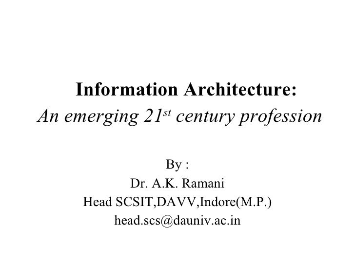 Why to Architecture Information