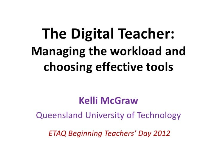 The digital teacher - ETAQ presentation