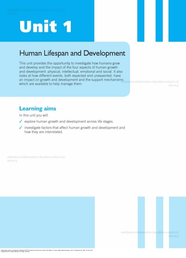 health n social care unit 1 Btec level 1/level 2 first award in health and social care core units  unit 1:  human lifespan development (30 glh) - external assessment how do.