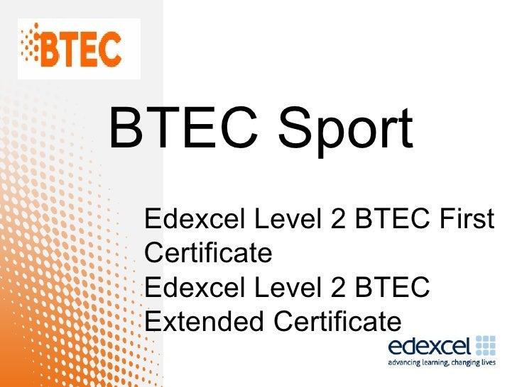BTEC Sport - Spec