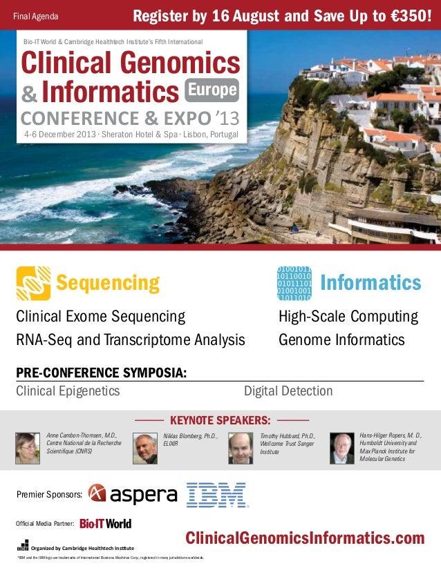 Clinical Genomics & Informatics Europe - Program