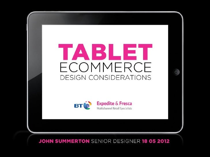 Tablet Interface Design Considerations