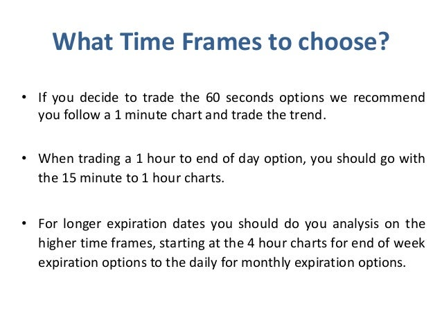 Binary options brokers expiry times